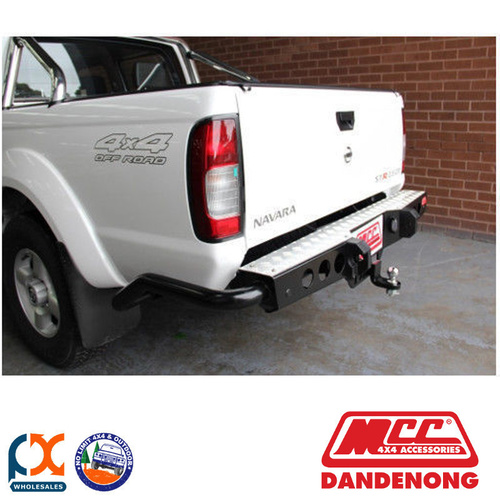 MCC JACK REAR BAR WITH STEP PLATE SUIT NISSAN NAVARA D40 (SMOOTH BUMPER) (09/2010-02/2015)
