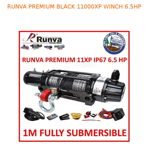 RUNVA 11XP SUBMERSIBLE IP67 PREMIUM EDITION 11000 POUND REMOTE COMP PATROL WINCH
