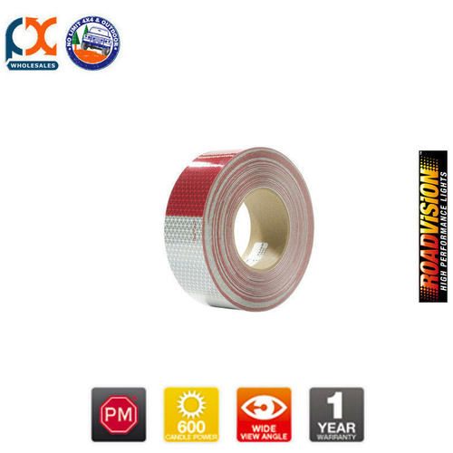 465-1 REFLECTING TAPE ROLL RED/SILVER