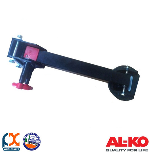 AL-KO CORNER STEADY DROP DOWN 590MM BLACK E COAT WITH BIG FOOT FITTED