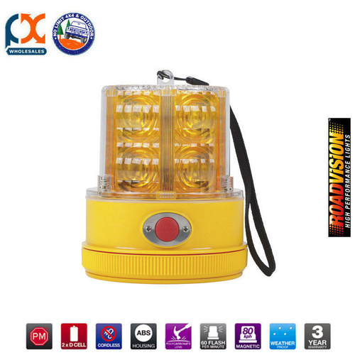 740A LED BEACON STROBE AMBER MAGNETIC