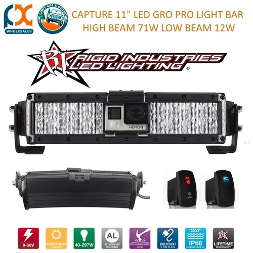 RIGID INDUSTRIES GO PRO CAPTURE LED LIGHT BAR HIGH AND LOW BEAM OFFROAD