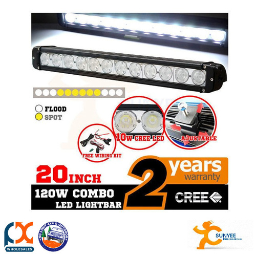 SUNYEE 20INCH 120W CREE LED LIGHT BAR SPOT FLOOD WORK