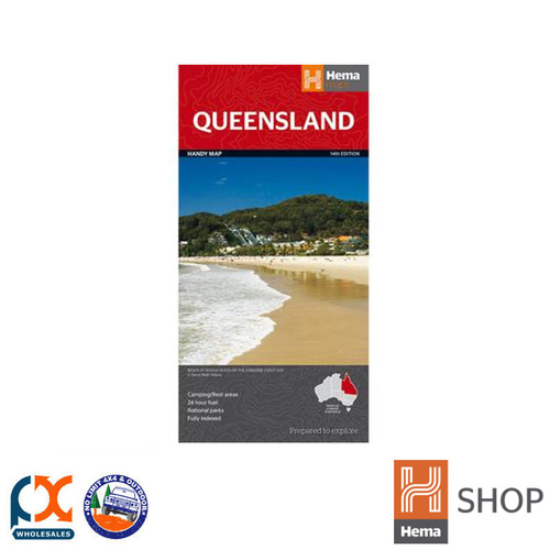 HEMA QUEENSLAND HANDY MAP