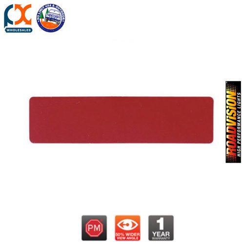 B492R SPITFIRE REFLECTOR ADHESIVE RED RECT