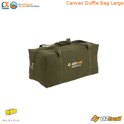 OZTRAIL CANVAS DUFFLE BAG LARGE