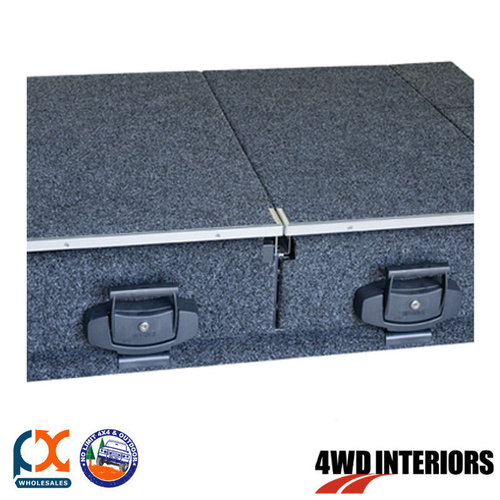 OUTBACK 4WD INTERIOR TWIN DRAWER REAR ACCESS SINGLE ROLLER FLOOR HIACE VAN