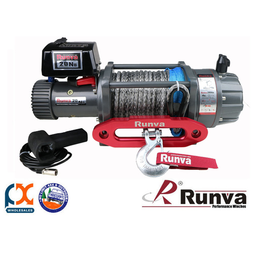 RUNVA 4X4 ELECTRIC SERIES EWB20000 PREMIUM 24V WITH SYNTHETIC ROPE - FULL IP67 PROTECTION