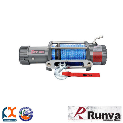 RUNVA 1200lb ELECTRIC EWX12000 24V WITH DYNEEMA WINCH ROPE