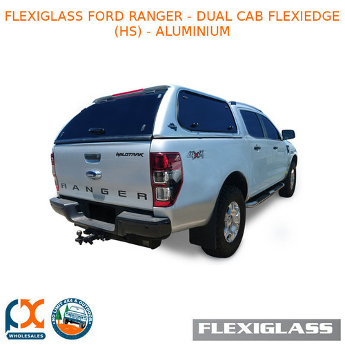 FLEXIGLASS FORD RANGER - DUAL CAB FLEXIEDGE LIFT UP WINDOOR X 2 (HS) - ALUMINIUM