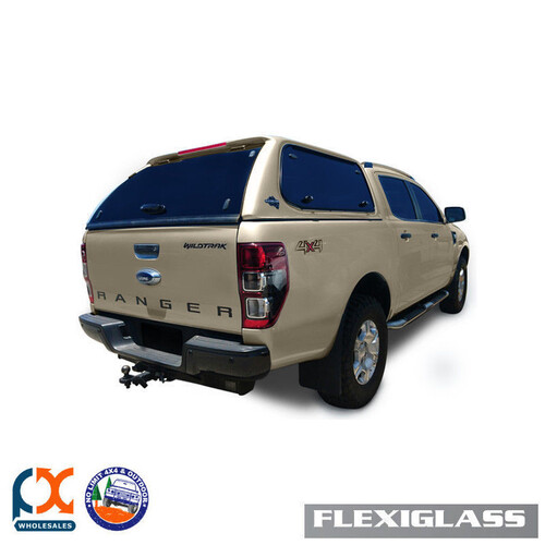 FLEXIGLASS FORD RANGER - DUAL CAB FLEXIEDGE LIFT UP WINDOOR X 2 (SG) - SPARKLING GOLD