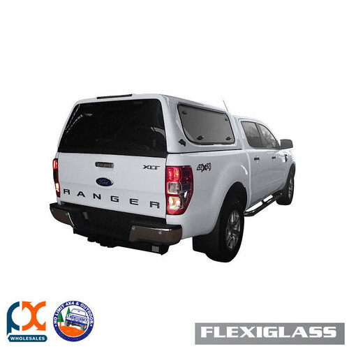 FLEXIGLASS FIT FORD RANGER PX-DC FLEXITRADE LIFTUP WINDOORX2 HS-HIGHLIGHT SILVER