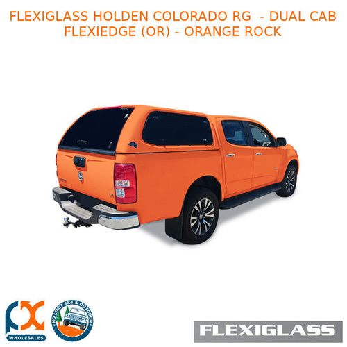 FLEXIGLASS HOLDEN COLORADO RG  - DUAL CAB FLEXIEDGE LIFT UP WINDOOR X 2 (OR) - ORANGE ROCK