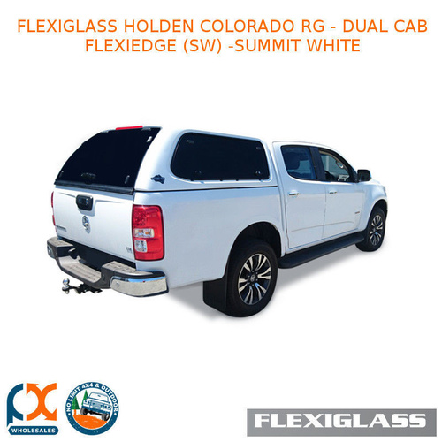 FLEXIGLASS HOLDEN COLORADO RG - DUAL CAB FLEXIEDGE LIFT UP WINDOOR X 2 (SW) - SUMMIT WHITE