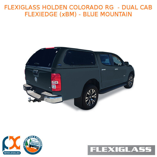 FLEXIGLASS HOLDEN COLORADO RG  - DUAL CAB FLEXIEDGE LIFT UP WINDOOR X 2 (XBM) - BLUE MOUNTAIN