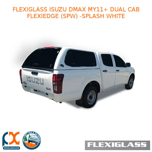 FLEXIGLASS ISUZU DMAX MY11+ DUALCAB FLEXIEDGE LIFT UP WINDOOR X 2 (SPW) - SPLASH WHITE