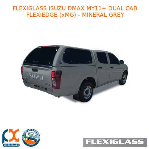 FLEXIGLASS ISUZU DMAX MY11+ DUAL CAB FLEXIEDGE LIFT UP WINDOOR X 2 (XMG) - MINERAL GREY