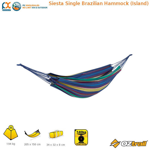 Siesta Single Brazilian Hammock (Island) - FHC-BS-B(IS)