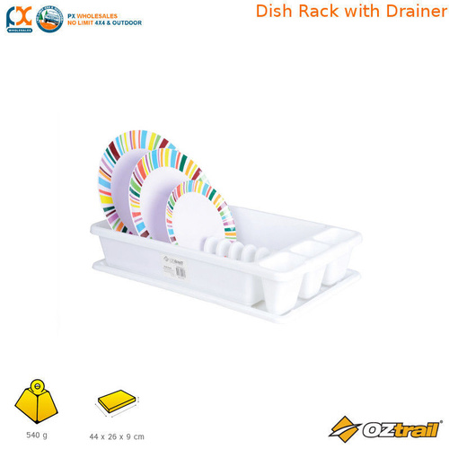 OZTRAIL DISH RACK WITH DRAINER
