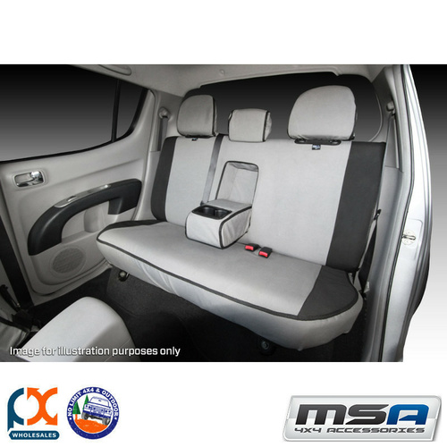 MSA SEAT COVER FOR NISSAN PATROL 2ND ROW 50/50 SPLIT BENCH ARMREST COVER-GU43-Ti