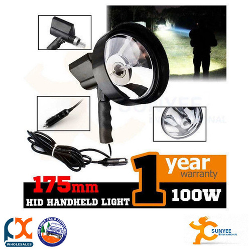 SUNYEE 100W 175MM HANDHELD HID XENON DRIVING SPOT LIGHT LAMP HUNTING