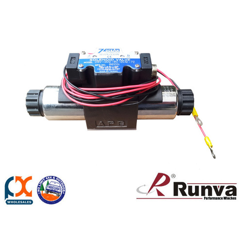 RUNVA HYDRAULIC ACCESSORY SOLENOID VALVE - 12V DIRECTIONAL CONTROL VALVE