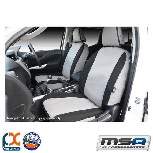 MSA SEAT COVERS FOR  HOLDEN TRAILBLAZER FRONT TWIN BUCKETS (AIRBAG SEATS)