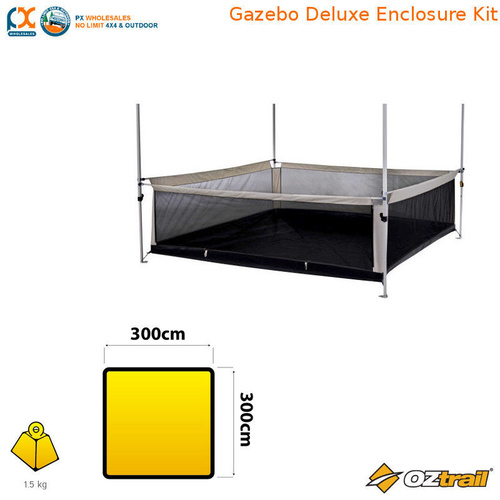 OZTRAIL GAZEBO DELUXE ENCLOSURE KIT