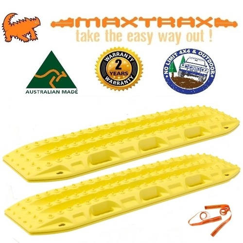 MAXTRAX 4WD RECOVERY TRACKS SAND MUD SNOW BLAZE YELLOW MAX TRAX EXTRACTION TRED