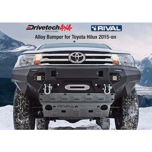 RIVAL TOYOTA HILUX 2015+ FULL BUMPER REPLACEMENT 6MM ALLOY BULLBAR LIGHT WEIGHT
