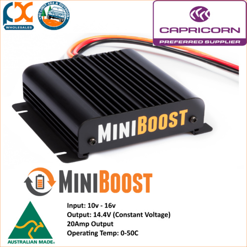 MINI BOOST DC TO DC 20AMP CHARGER AGM GEL CALCIUM WET AUSTRALIAN MADE! BMPRO