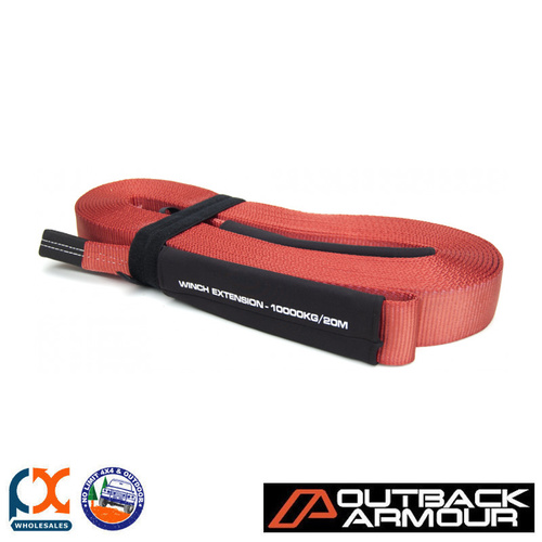 OUTBACK ARMOUR RECOVERY 10T/20M WINCH EXTENSION STRAP