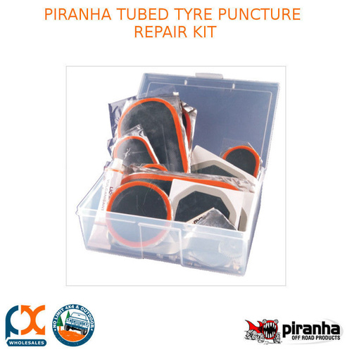 PIRANHA TUBED TYRE PUNCTURE REPAIR KIT