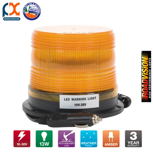 RB39MVYR LED BEACON ROTATING AMBER MAGNETIC
