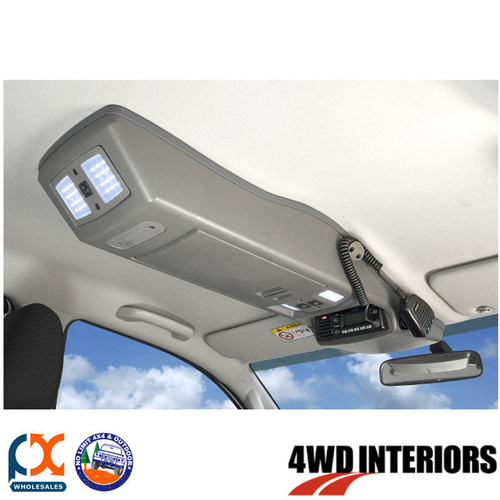 OUTBACK 4WD INTERIORS ROOF CONSOLE - HILUX DOUBLE CAB 03/05-09/15
