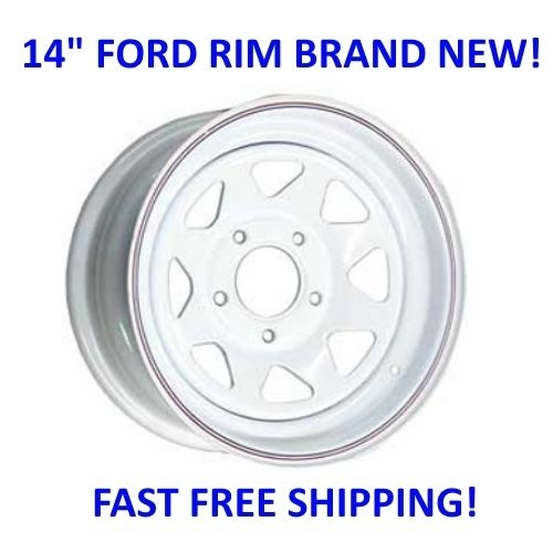 "14"" Sunraysia Wheel Rim White Ford Stud Pattern Trailer Caravan Boat"