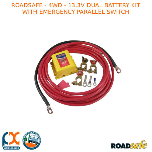 ROADSAFE - 4WD - 13.3V DUAL BATTERY KIT WITH EMERGENCY PARALLEL SWITCH