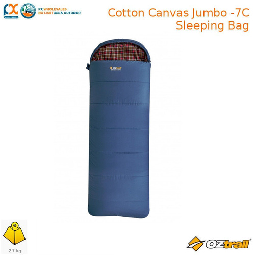 OZTRAIL COTTON CANVAS JUMBO -12C SLEEPING BAG