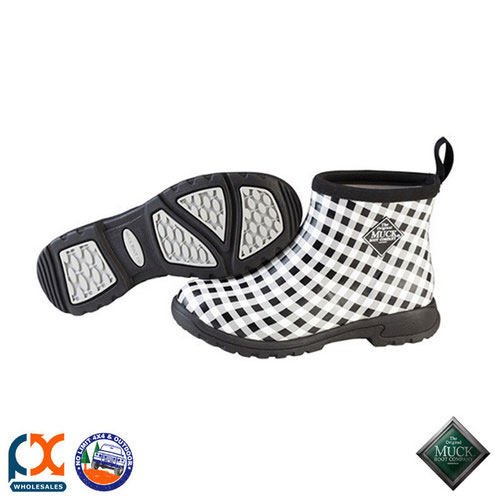 MUCK BOOT RAIN & GARDEN WOMEN'S BOOT - BREEZY ANKLE GARDEN BOOT BLACK GINGHAM
