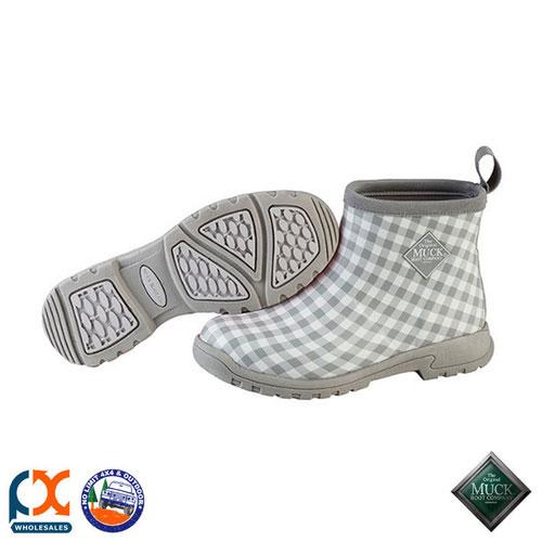 MUCK BOOT RAIN & GARDEN WOMEN'S BOOT - BREEZY ANKLE GARDEN BOOT GREY GINGHAM