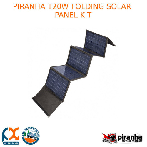 PIRANHA 120W FOLDING SOLAR PANEL KIT