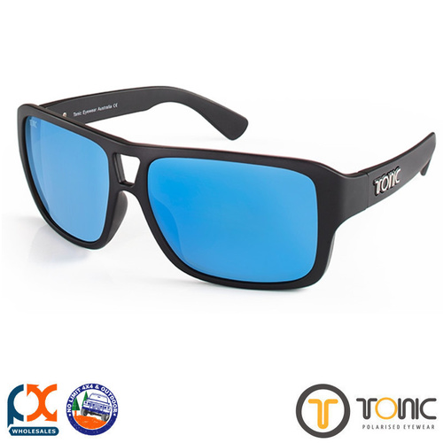 TONIC JO SHINY BLACK GLASS MIRROR BLUE G2 SLICELENS
