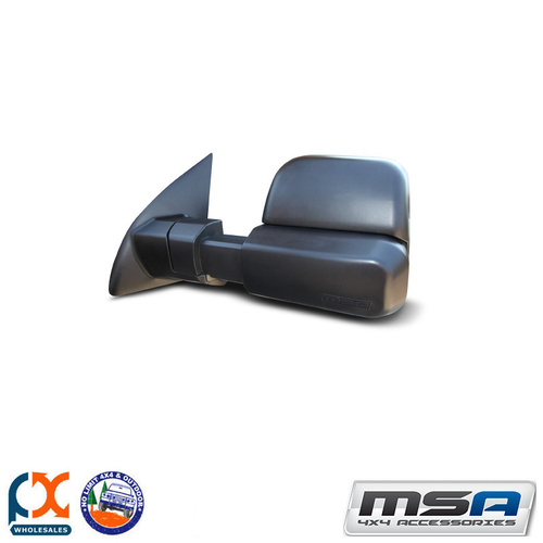 MSA 4X4 TOWING MIRROR (BLACK ELECTRIC) TOYOTA LC LC200 SERIES 07-CURRENT