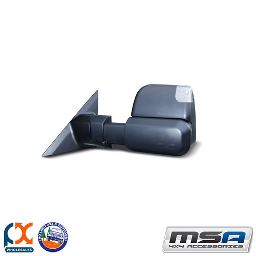 MSA 4X4 TOWING MIRROR (BLACK ELECTRIC INDICATORS) HOLDEN COLORADO 2012-CURRENT