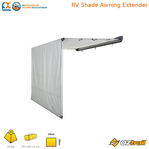 NLA OZtrail RV Shade Awning Extender Tough Roof Silver Camping Caravan -