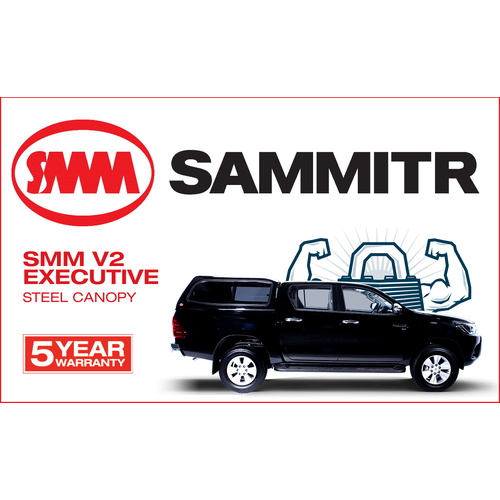 SAMMITR STEEL V2 CANOPY FITS TOYOTA HILUX A DECK SR5 ALL COLOURS AVAILABLE SMM